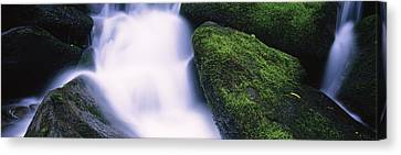 High Angle View Of A Waterfall, Roaring Canvas Print