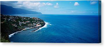 High Angle View Of An Island, Ponta Canvas Print by Panoramic Images