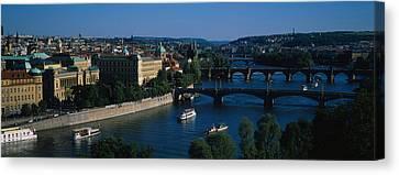 High Angle View Of Bridges Canvas Print