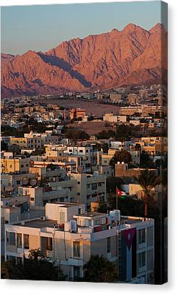 Jordan Canvas Print - High Angle View Of City, Aqaba, Jordan by Panoramic Images