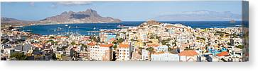 High Angle View Of City Canvas Print by Panoramic Images