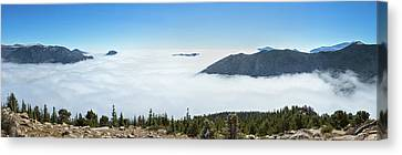 High Angle View Of Clouds From Trail Canvas Print