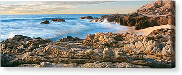 High Angle View Of Coastline, Cerritos Canvas Print by Panoramic Images