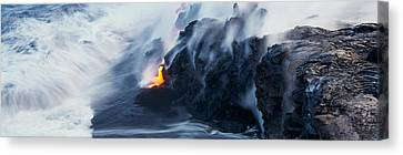 High Park Fire Canvas Print - High Angle View Of Lava Flowing by Panoramic Images