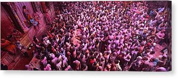 High Angle View Of People Celebrating Canvas Print by Panoramic Images