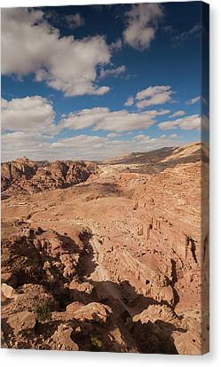 Petra Canvas Print - High Angle View Of Petra Valley by Panoramic Images