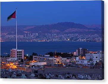 Jordan Canvas Print - High Angle View Of Port Of Aqaba by Panoramic Images