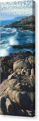 High Angle View Of Rocks On The Coast Canvas Print by Panoramic Images