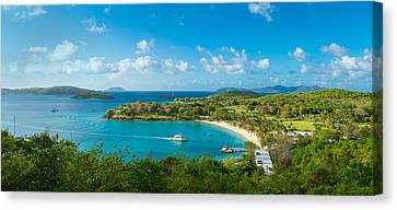 High Angle View Of The Caneel Bay, St Canvas Print