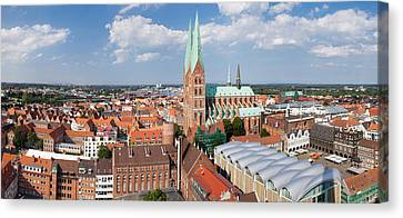Gothic Germany Canvas Print - High Angle View Of The St. Marys by Panoramic Images