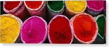 High Angle View Of Various Powder Canvas Print by Panoramic Images
