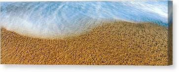 High Angle View Of Waves On The Beach Canvas Print by Panoramic Images