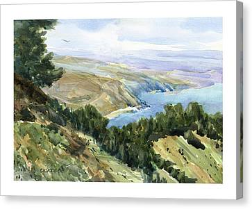 High Coastal View Canvas Print