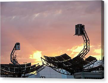 High Concentration Photo Voltaic Panels Canvas Print by Ashley Cooper