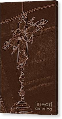 High Cross Up Above  Canvas Print by ARTography by Pamela Smale Williams