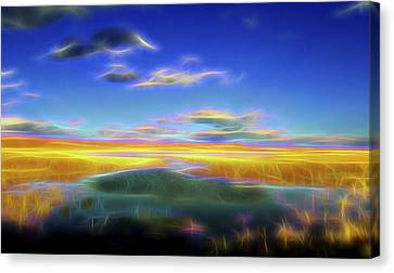 High Desert Lake Canvas Print by William Horden