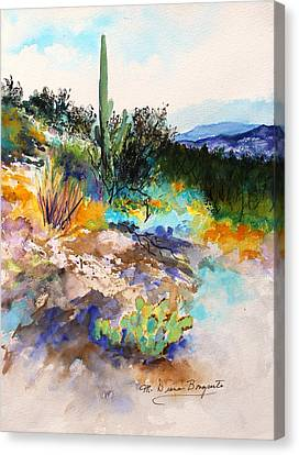 High Desert Scene 2 Canvas Print by M Diane Bonaparte