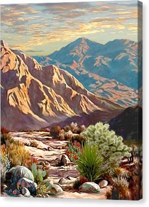 High Desert Wash Portrait Canvas Print by Ron Chambers