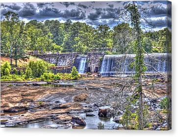 High Falls Dam Canvas Print by Donald Williams