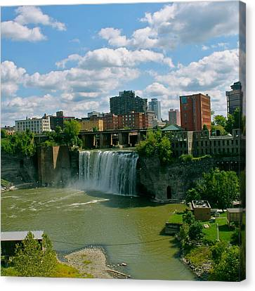 High Falls Rochester  Canvas Print by Justin Connor