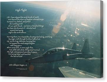 High Flight T-38c Canvas Print by Wade Meyers