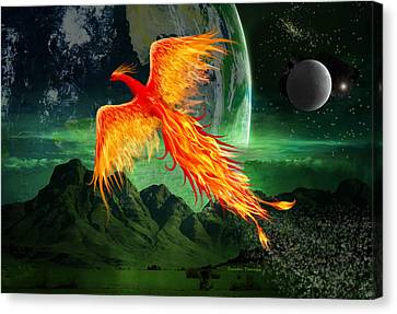 High Flying Phoenix Canvas Print