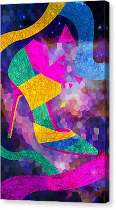 High Heels On Ropes Canvas Print by Kenal Louis