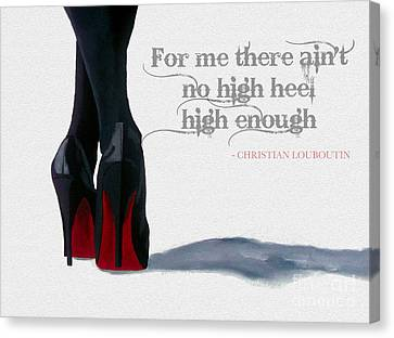 High Heels Canvas Print by Rebecca Jenkins