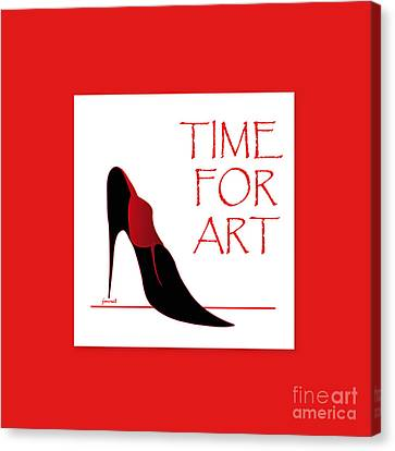 High Heels Time Canvas Print by Johannes Murat