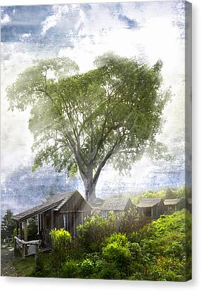 High In The Clouds Canvas Print by Debra and Dave Vanderlaan