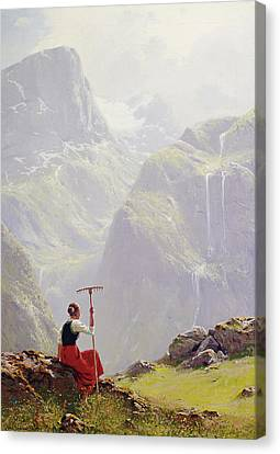 High In The Mountains Canvas Print