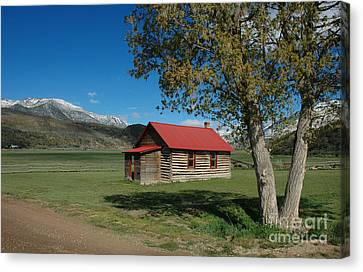 One Room School Houses Canvas Print - High Lonesome Ranch by Jerry McElroy
