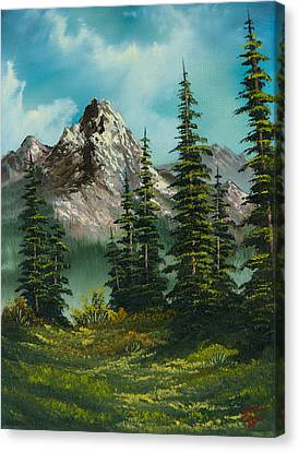 Bob Ross Canvas Print - High Meadow by Chris Steele
