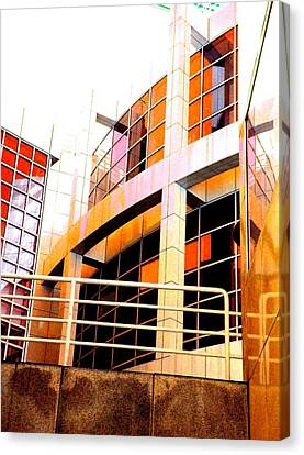 Canvas Print featuring the photograph High Museum Of Art by Cleaster Cotton