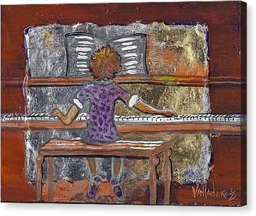 High Note Canvas Print by Maria Valladarez