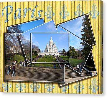 High On A Hill In Paris - Sacre Coeur Canvas Print by Mark E Tisdale