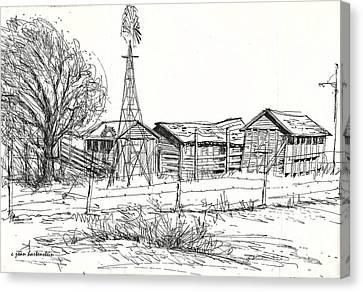 High Plains Barns Canvas Print