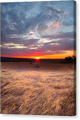 High Plains Sunrise Canvas Print by Ric Soulen