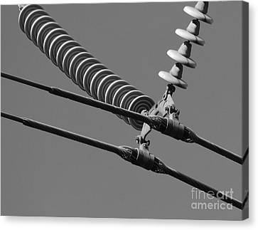 Canvas Print featuring the photograph High Power Line - 4 by Kenny Glotfelty