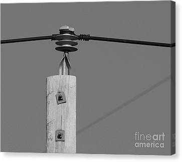 Canvas Print featuring the photograph High Power Line - 6 by Kenny Glotfelty