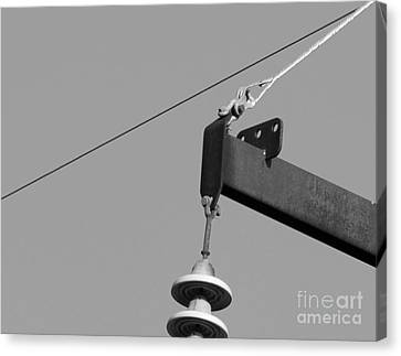 Canvas Print featuring the photograph High Power Line - 7 by Kenny Glotfelty