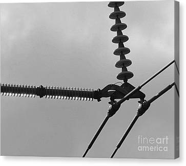 Canvas Print featuring the photograph High Power Lines - 2 by Kenny Glotfelty