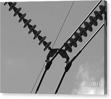 Canvas Print featuring the photograph High Power Lines - 3 by Kenny Glotfelty