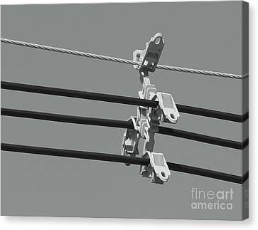 Canvas Print featuring the photograph High Power Lines - 9 by Kenny Glotfelty