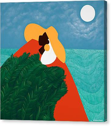 Canvas Print - High Priestess Haiti by Synthia SAINT JAMES
