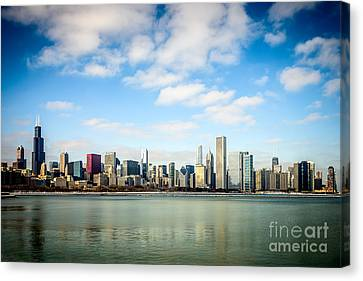 High Resolution Large Photo Of Chicago Skyline Canvas Print