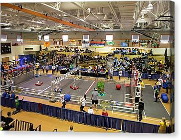 High School Robotics Competition Canvas Print by Jim West