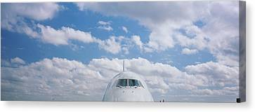 High Section View Of An Airplane Canvas Print by Panoramic Images