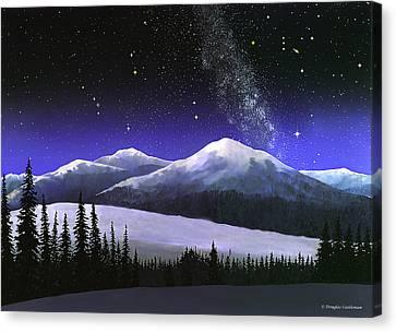 High Sierra Night Canvas Print by Douglas Castleman