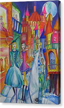 High Street Fashion Canvas Print by Cate Field